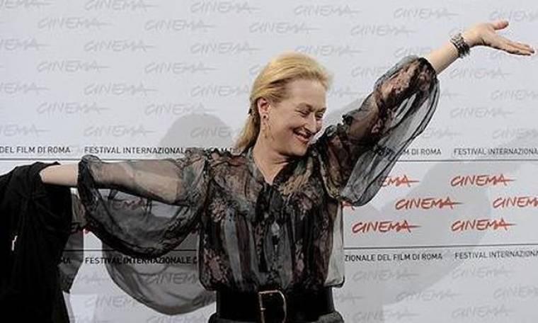 Στο κόκκινο χαλί της Ρώμης η Meryl Streep