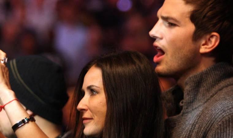 Σε αγώνα πυγμαχίας Demi Moore και Ashton Kutcher
