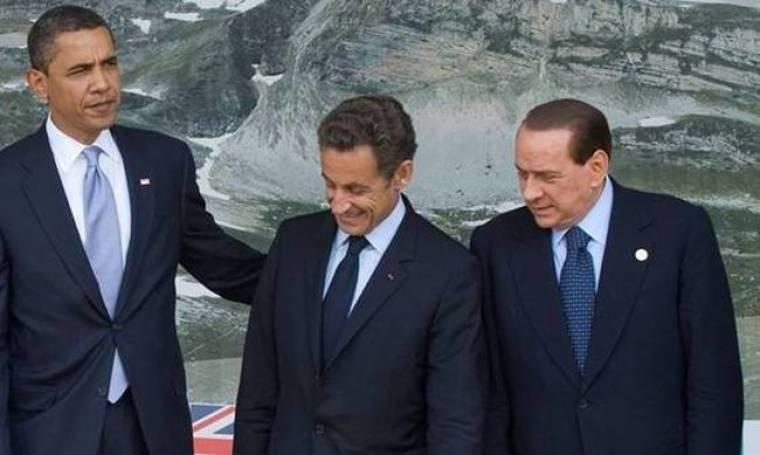 Πού κοιτάνε Σαρκοζί και Μπερλουσκόνι;