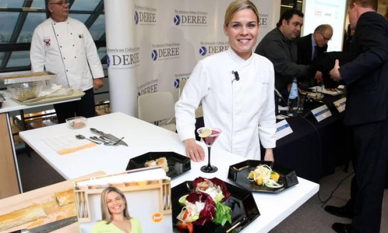 Η Γκερέκου συναντήθηκε με την γνωστή chef Cat Cora