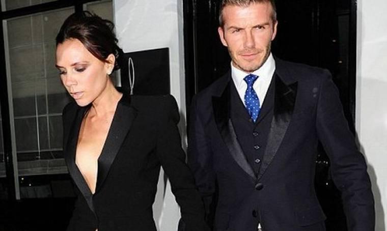 Το ντεκολτέ της Victoria Beckham σε πρώτο πλάνο