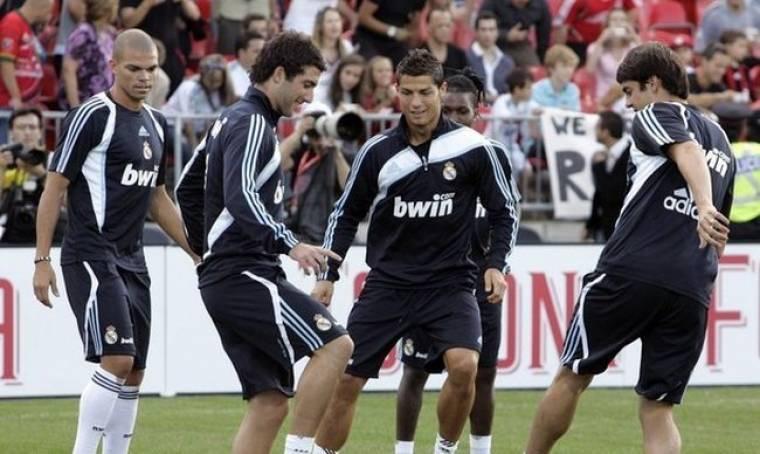 Οι παίκτες της Real ... σε μεγάλα κέφια