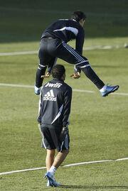 Ο Cristiano Ronaldo περνάει πολύ καλά στις..προπονήσεις