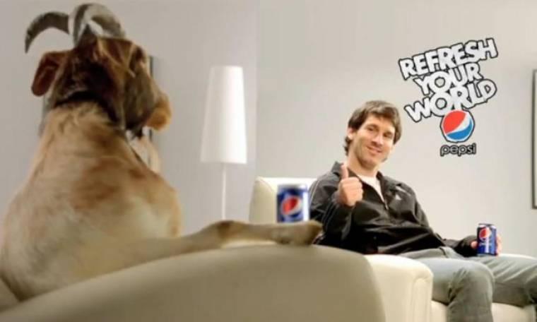Ο Lionel Messi βλέπει τηλεόραση με μία... κατσίκα!