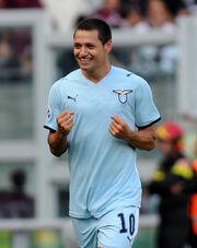 Ο Mauro Zarate στην εξέδρα με τους οργανωμένους της Lazio