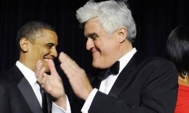 Η πλάκα του Obama στον Jay Leno