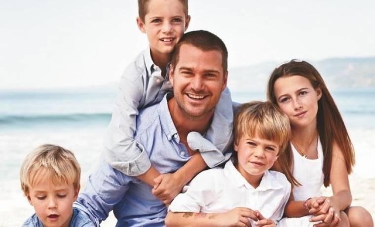 Ο Chris O'Donnell και τα παιδιά του