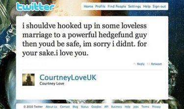 Ένα οργισμένο μήνυμα της Courtney Love