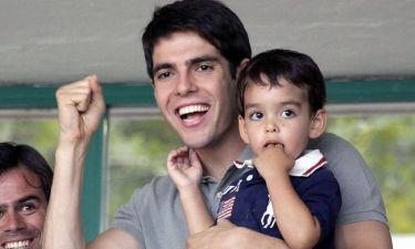Στιγμιότυπα από τις τρυφερές στιγμές του Kaka με τον γιο του