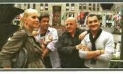 Στιγμιότυπα των μελών της επιτροπής του X-Factor στη Νέα Υόρκη