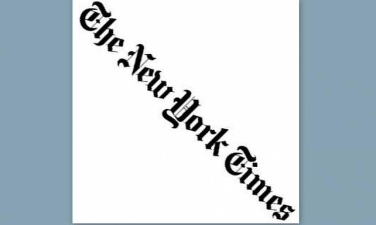 «Νew York Τimes»: Μειωμένα έσοδα στην εφημερίδα, κατηφόρα στην αξία της μετοχής