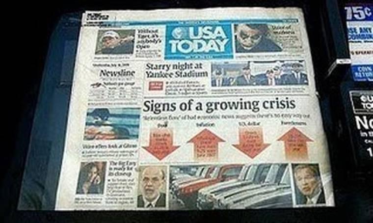 USA Today: Αποδυναμώνει την έντυπη έκδοση, το βάρος στο Ιντερνετ