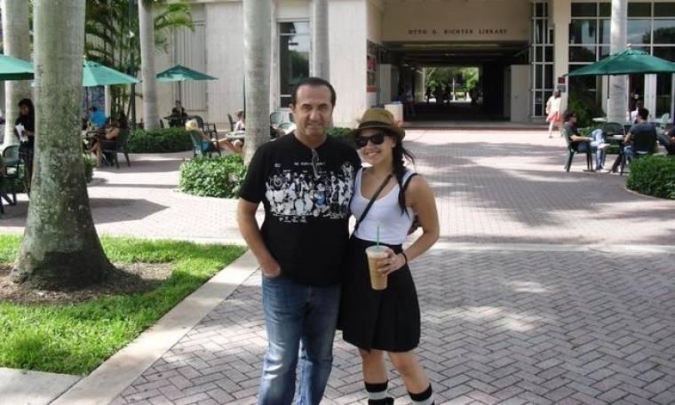 Ταξίδι-έκπληξη στην Αμερική για την κόρη του έκανε ο Πανταζής