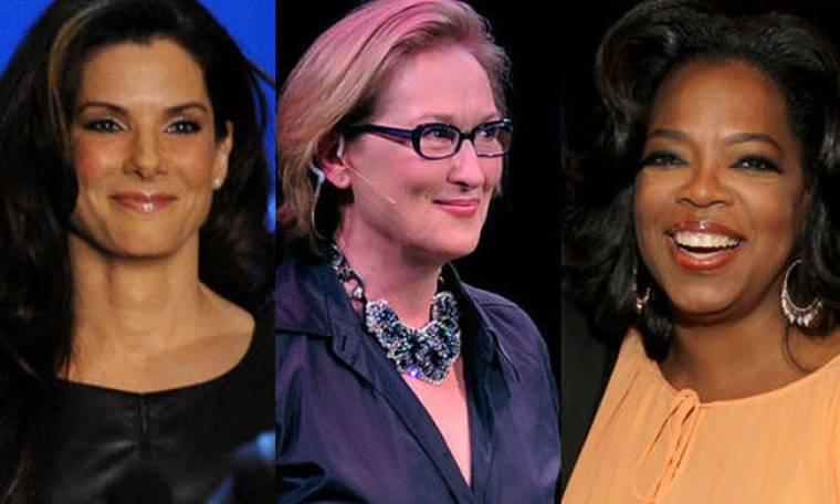 Τι κοινό έχουν η Oprah, η Bullock και η Streep;