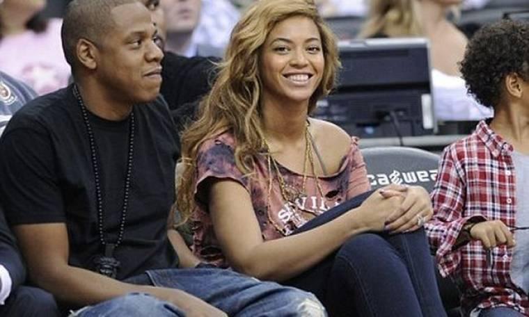 Beyonce και Jay Z στο γήπεδο