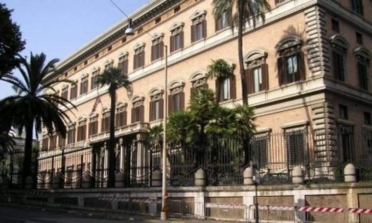 Ύποπτο δέμα στην πρεσβεία των ΗΠΑ στην Ρώμη