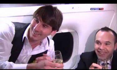 "Video: Xavi και Iniesta γιορτάζουν τη ""Χρυσή Μπάλα"" του Messi"