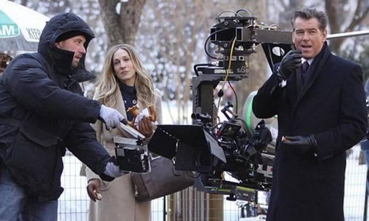 Sara Jessica Parker και Pierce Brosnan μαζί στα πλατό