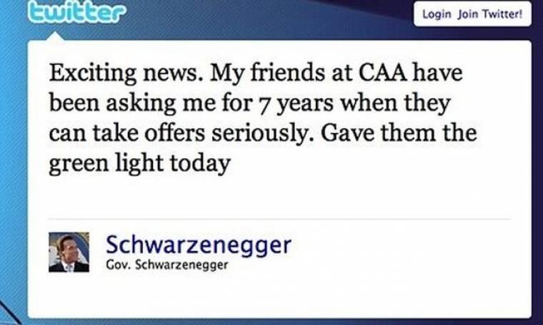 Arnold Schwarzenegger: Είχα πει ότι θα επιστρέψω