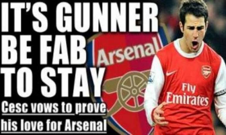 Cesc Fabregas: «Είμαι πιστός στην Arsenal»