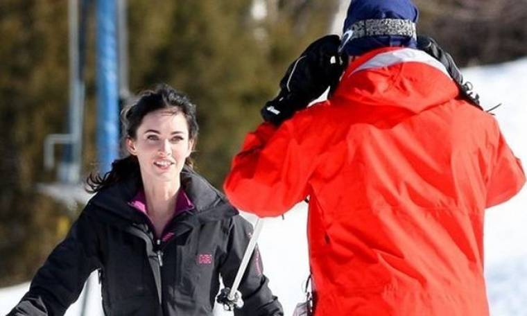 Megan Fox: Παίζοντας στα χιόνια με τον John Hamm