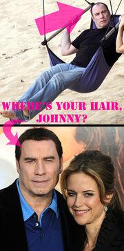 O John Travolta αερίζει στην κυριολεξία το κεφάλι του άνευ περούκας..Τι δεν το ξέρατε;