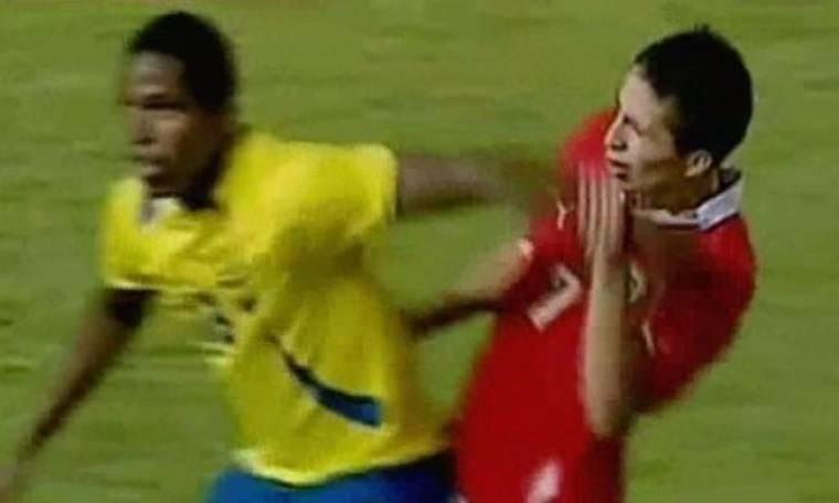 Video: Παίκτης χτυπήθηκε μόνος του και… έπεσε κάτω