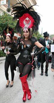 Sexy ακόμα και στα καρναβάλια η Στικούδη