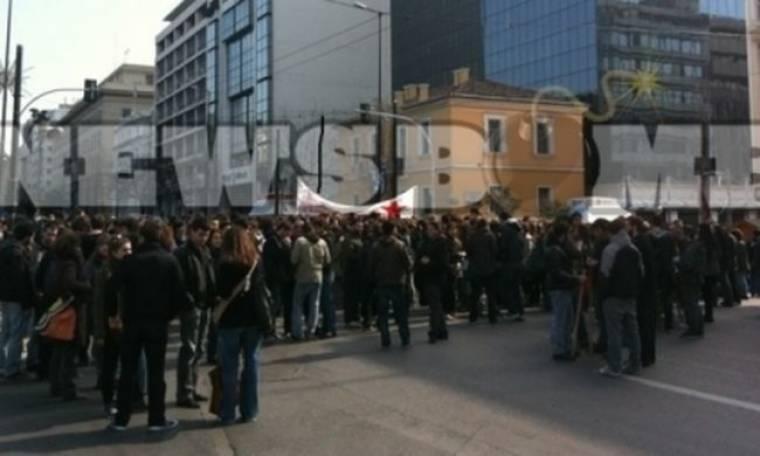 Συλλαλητήριο φοιτητών στα Προπύλαια