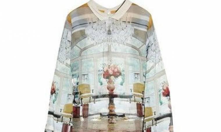 70s print σε μια μπλούζα από τη Mary Katrantzou