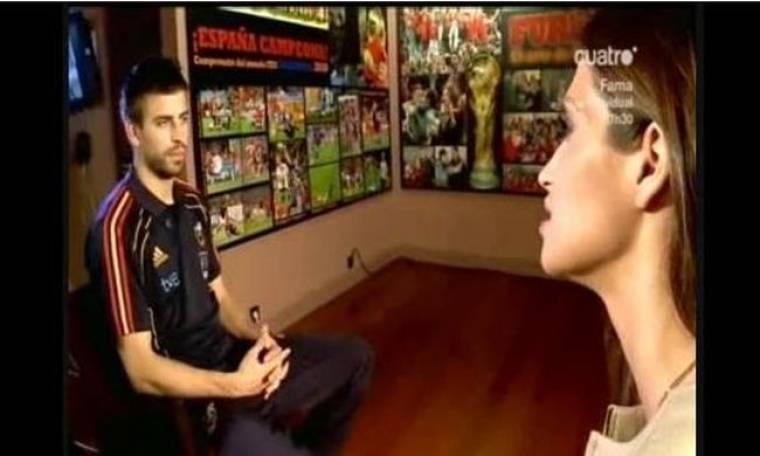 Video: Ο Pique μιλάει για όλα στην… Sara Carbonero