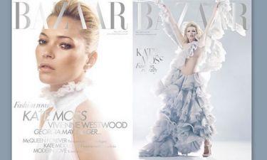 H Kate Moss στο Harper's Bazaar με McQueen