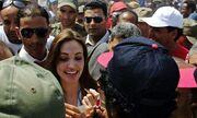 Η Angelina Jolie στα σύνορα Τυνησίας – Λιβύης