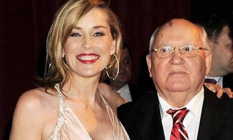 Με τη Σάρον Στόουν το γιόρτασε ο Γκορμπατσόφ