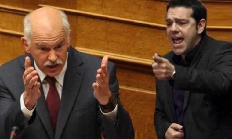 Σφοδρή σύγκρουση Παπανδρέου – Τσίπρα στη Βουλή για το Μνημόνιο και για τον Στρος Καν
