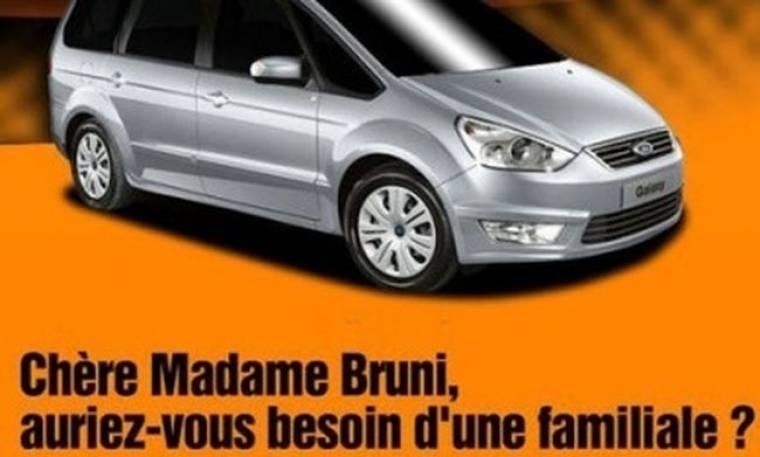 Η εγκυμοσύνη της Bruni σε… διαφήμιση