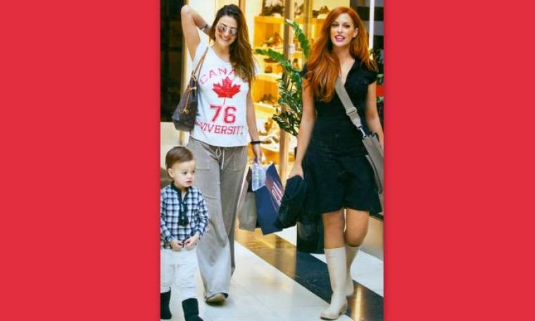 Σίσσυ Χρηστίδου-Δέσποινα Καμπούρη: Καρέ-καρέ η βόλτα τους σε εμπορικό κέντρο