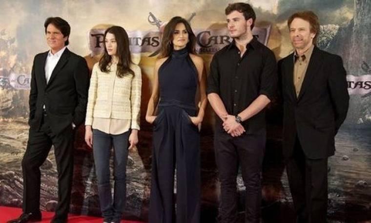 Η Penelope Cruz με τους Πειρατές στη Μαδρίτη