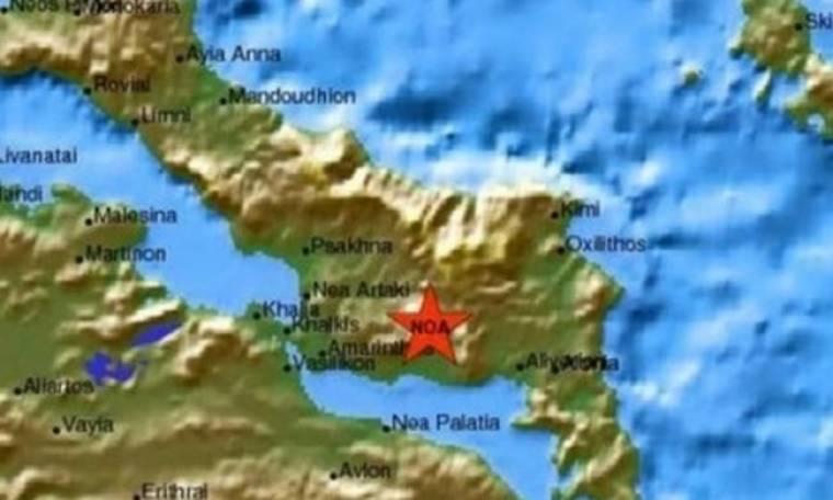 Δυο σεισμικές δονήσεις στην Εύβοια