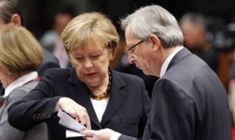 «Κλειστή» συνάντηση Μέρκελ - Γιούνκερ το απόγευμα στο Βερολίνο