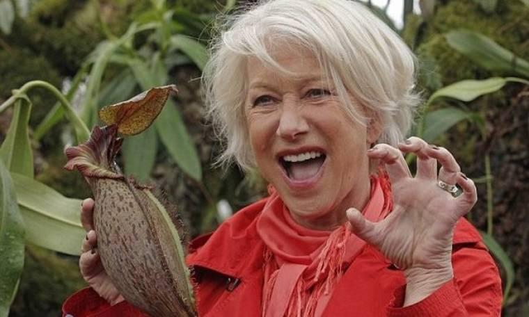 Η Helen Mirren και το σαρκοβόρο φυτό με το όνομά της