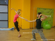 Δείτε τη Νάντια Μπουλέ στις πρόβες της για το Dancing