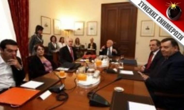 Αδιέξοδο από τη συνάντηση των πολιτικών αρχηγών