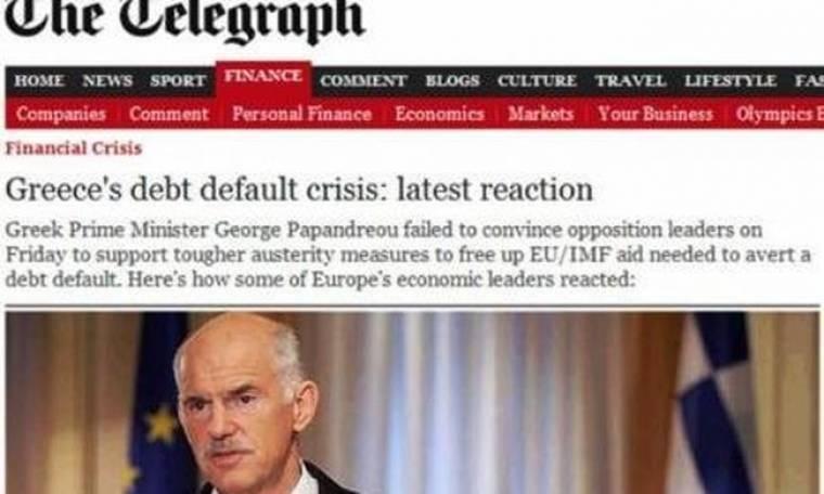Τelegraph: Τελευταία πράξη...για την αντιμετώπιση κρίση  χρέους στην Ελλάδα