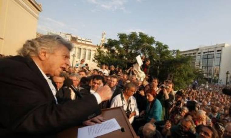 Video: Συγκίνησε ο Μίκης Θεοδωράκης