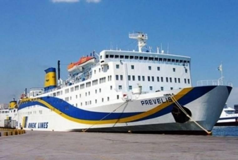 Πρόσκρουση του πλοίου «ΠΡΕΒΕΛΗΣ» στο λιμάνι της Ρόδου