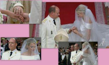 Καρέ καρέ ο θρησκευτικός γάμος του πρίγκιπα Αλβέρτου  με την Σαρλίν Γουίτστοκ