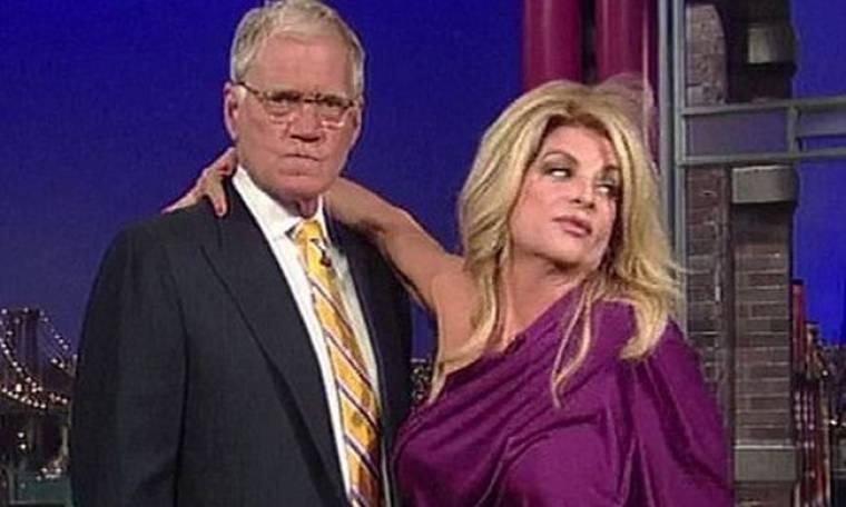 Video: Η Kirstie Alley προσπαθεί να αποπλανήσει τον Letterman