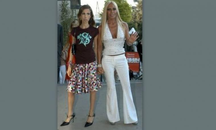 Η Ντονατέλα Βερσάτσε στην Κρήτη με την κόρη της!