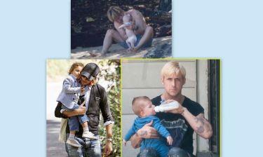 Διάσημοι μπαμπάδες σε δράση